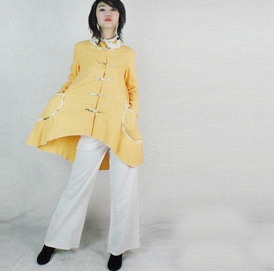 زرد باعث پیراهن کتانی تابستان