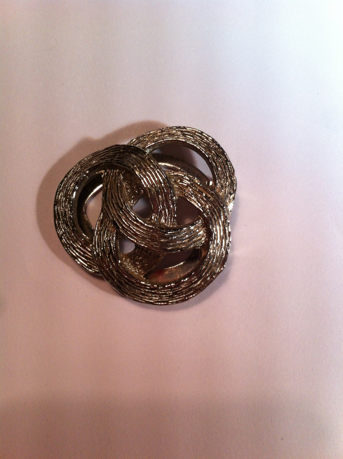 silver tone infinity abstract 50s antique vintage brooch scarf clip retro jewellery jewelry