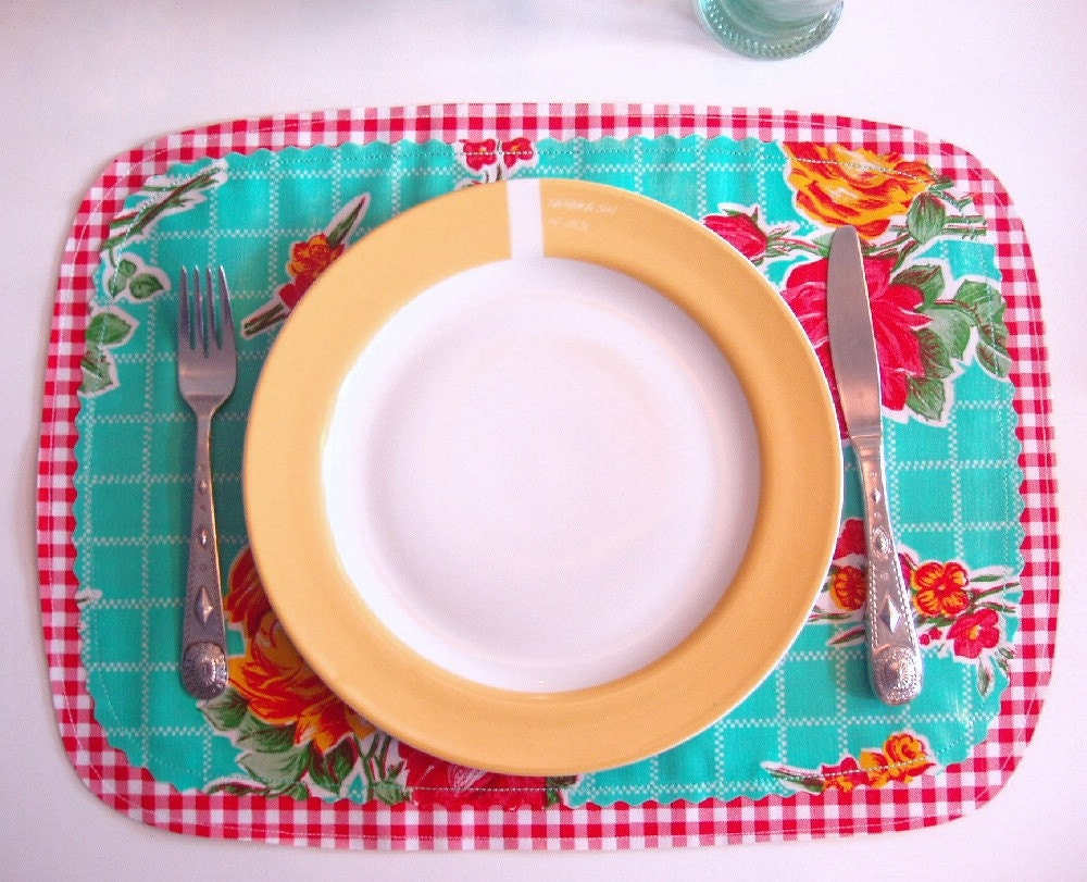 Reversible Place mats - Roses