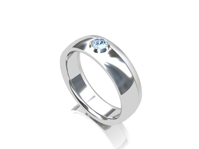 Items similar to aquamarine ring palladium ring men for Mens wedding rings with birthstones