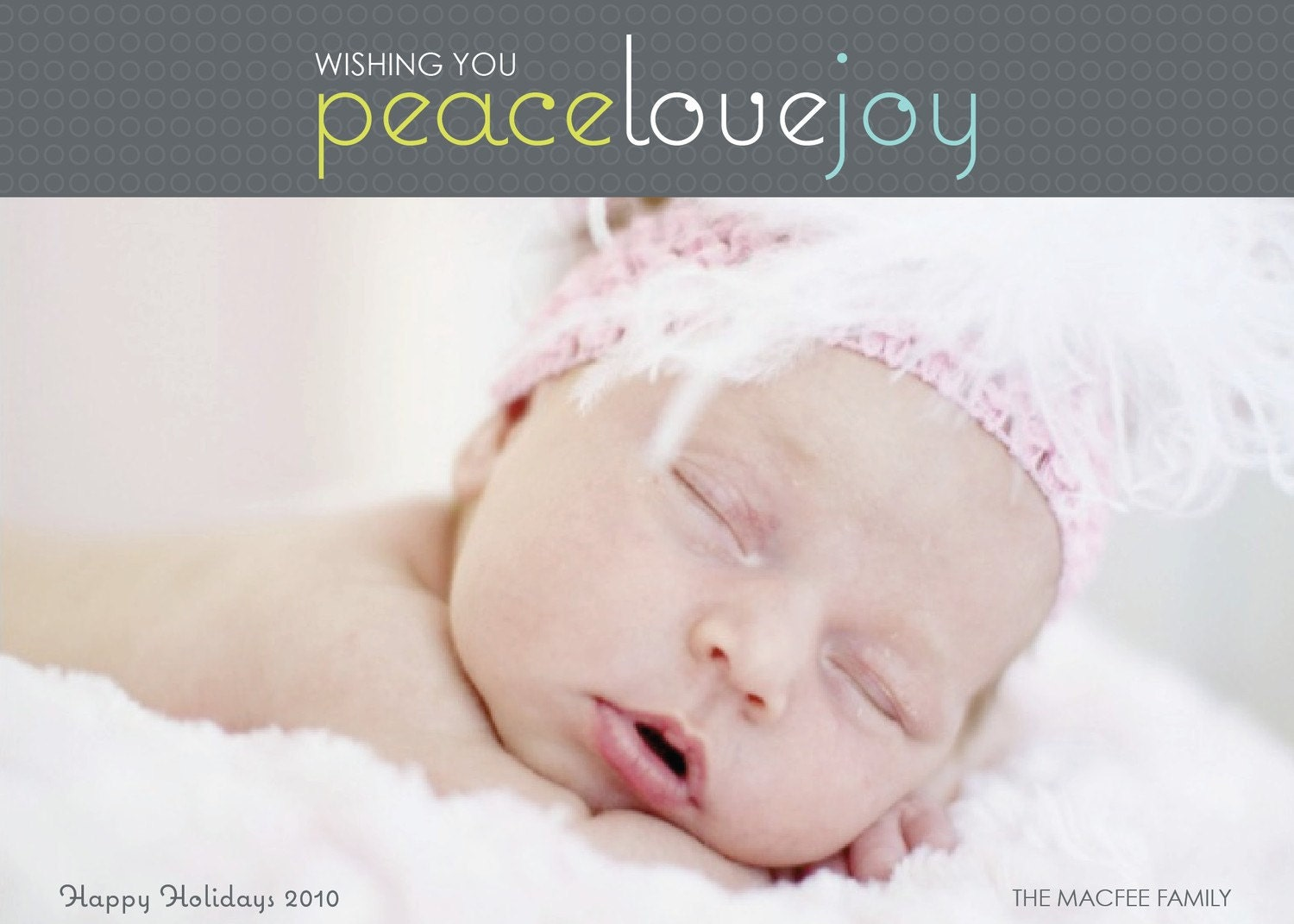 Peace Love Joy Holiday Photo Card