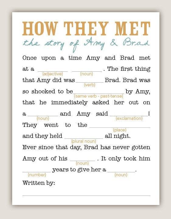 funny mad libs. DIY Printable Wedding Mad-Libs