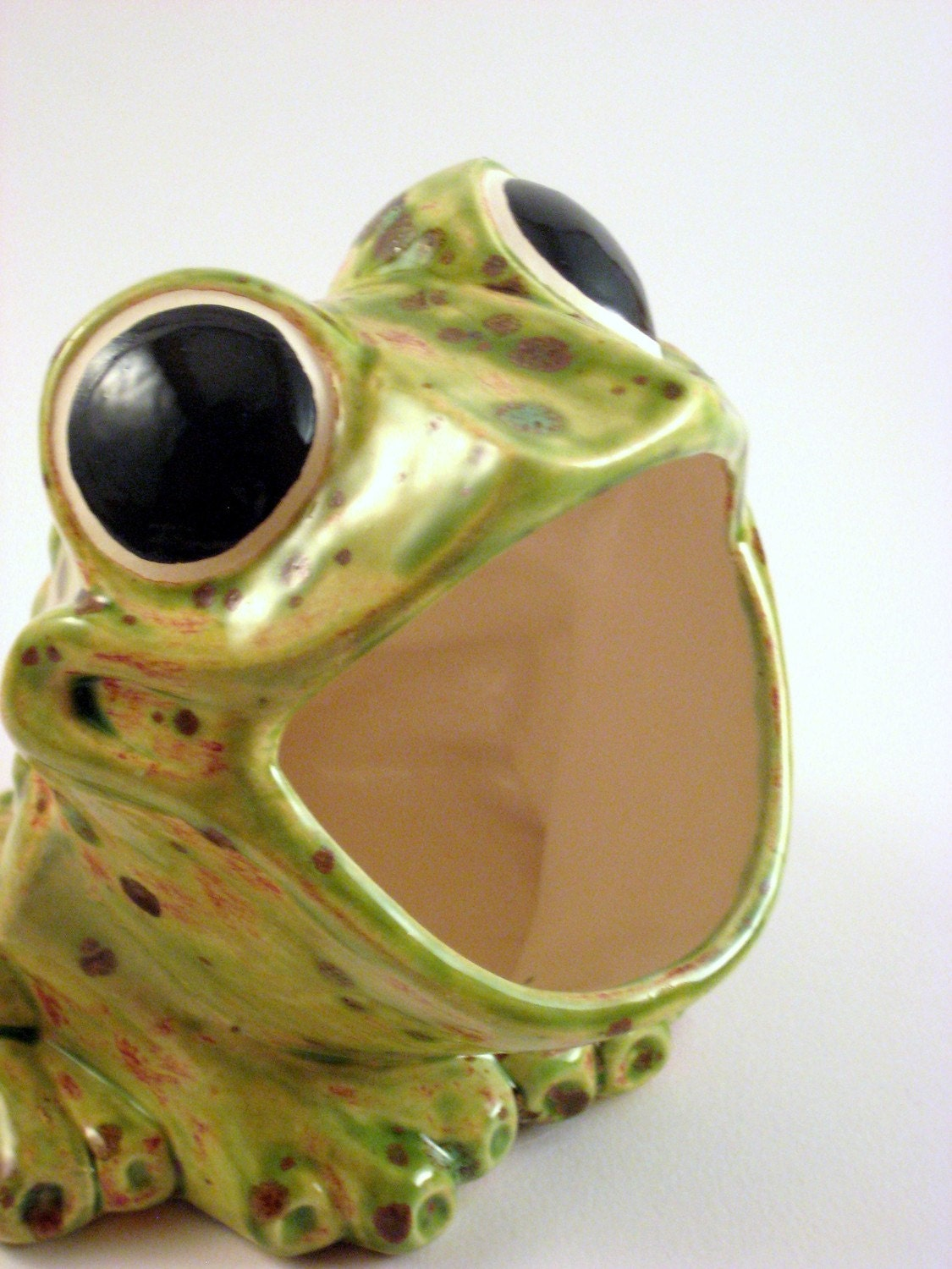 Vintage scrubby holder ceramic frog sponge holder by modclay - Frog sponge holder kitchen sink ...