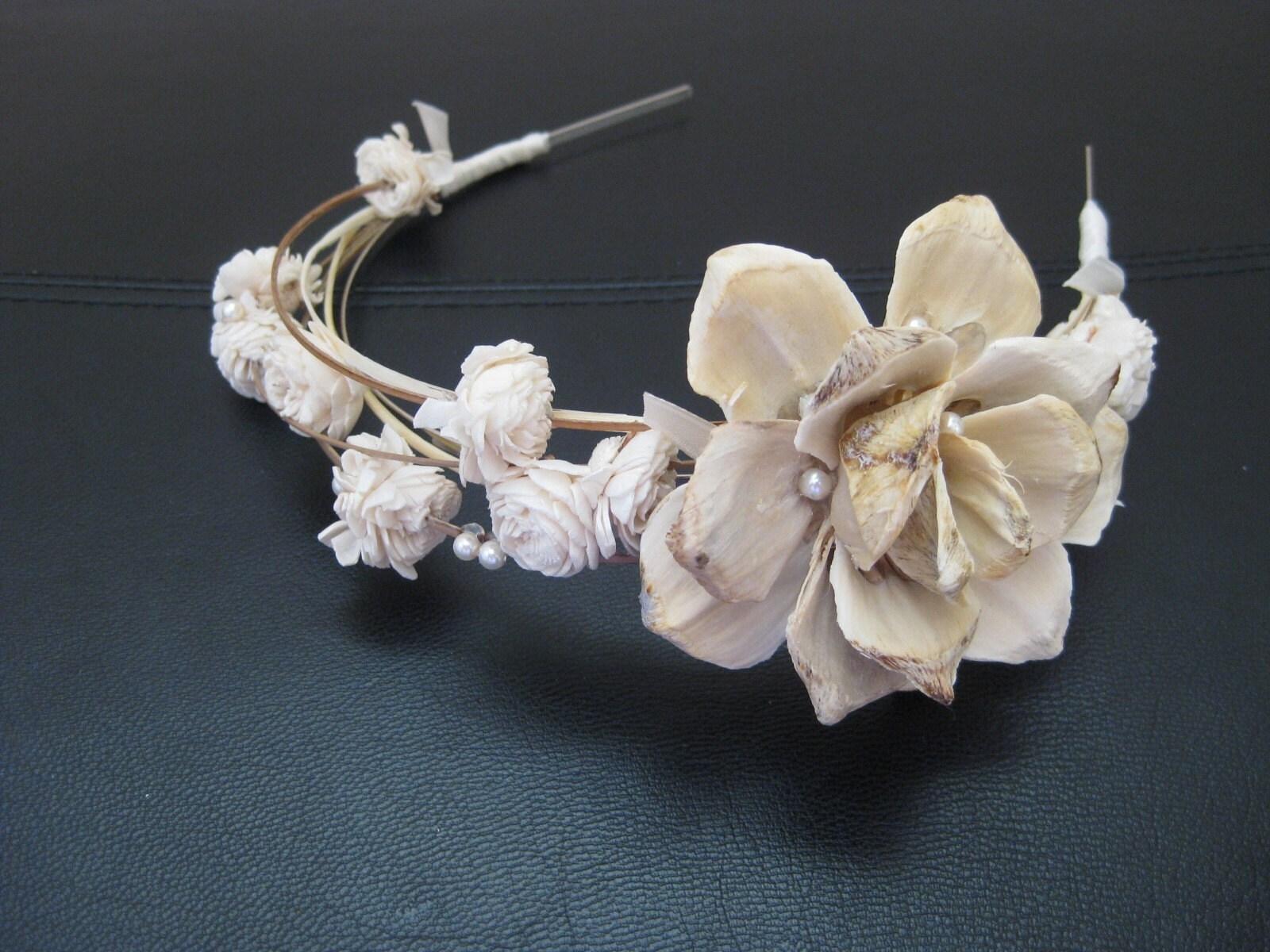 WOVEN-ivory tiara