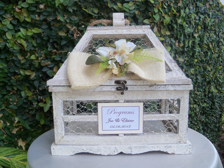 Wedding Card Box Rustic Wedding Chicken Wire By JumbledBrains