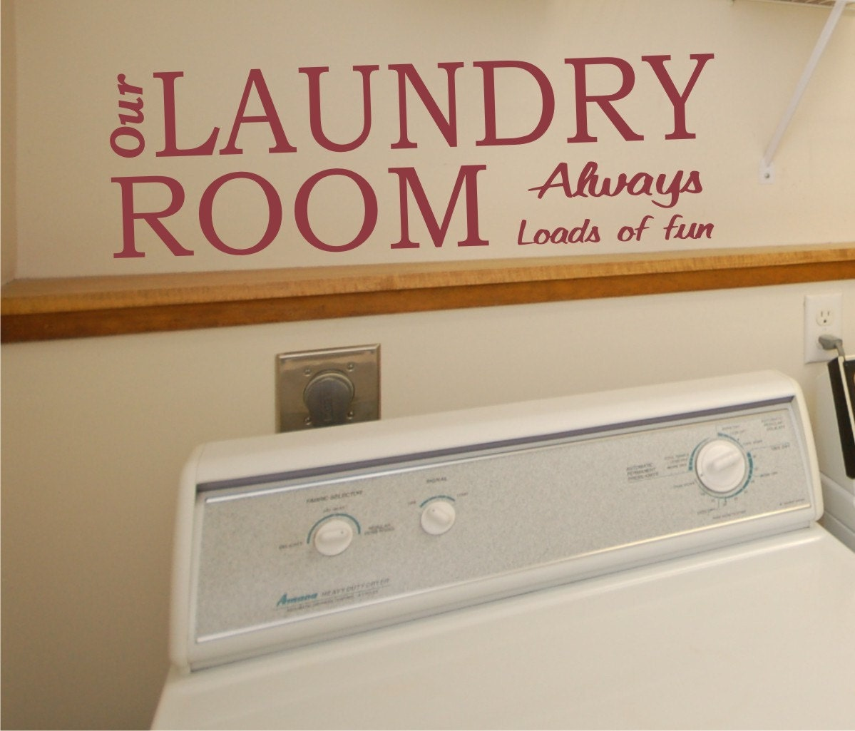 Http Www Etsy Com Listing 104449234 Wall Decal Our Laundry Room Always Loads