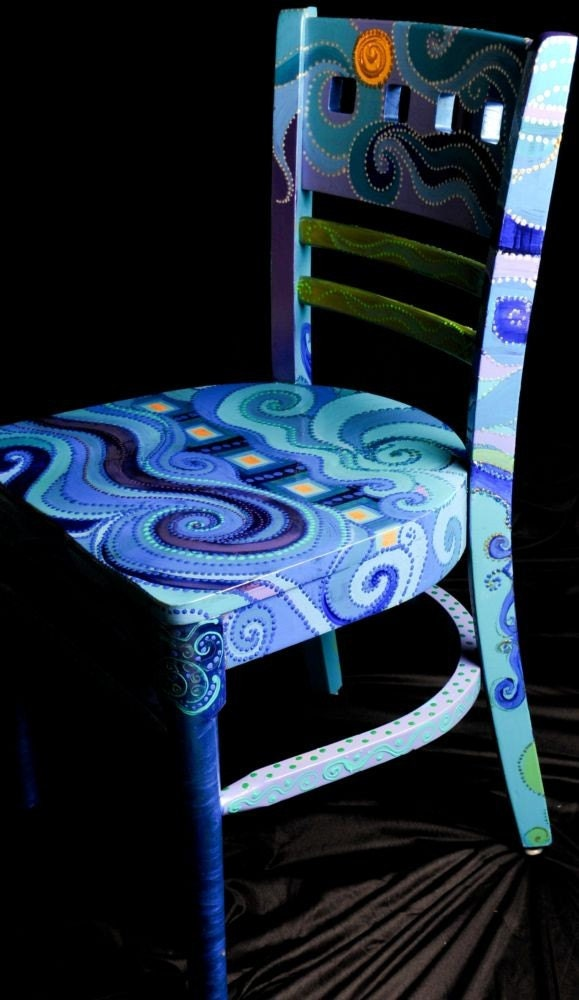 Blue Swirl chair
