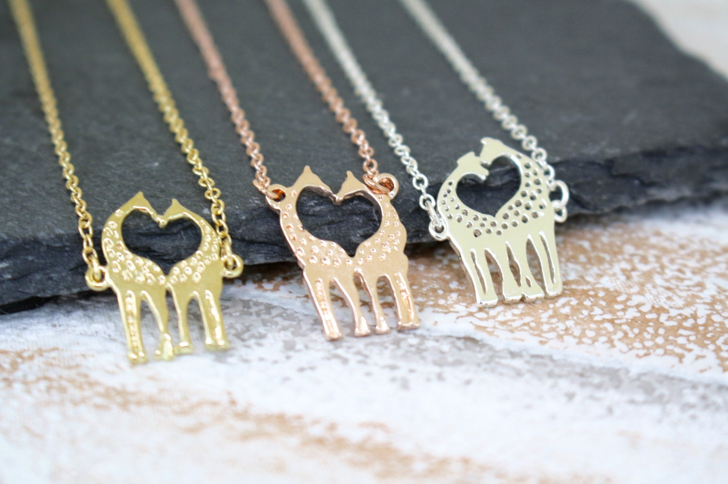 Giraffe Necklace Rose Gold Necklace Animal Jewellery Wildlife Jewellery Animal Lover Jewellery Safari Necklace Giraffe Jewelry
