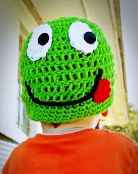 پی دی اف احمقانه لبخند قورباغه کلاه قلاب دوزی الگوی تمام اندازه ها شامل از بچه به بزرگسالان