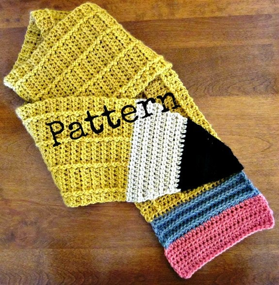 Crochet Pattern for No 2 Pencil Scarf by PatternedOnPurpose