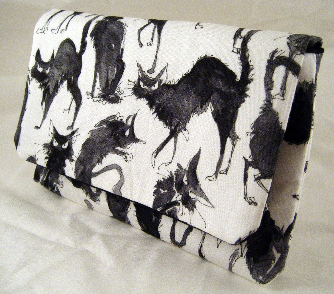 Alexander Henry Crazy Black Cats Clutch - thetinybird