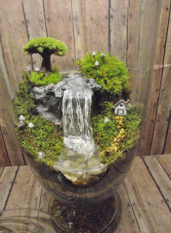 Водопад поделка из камней