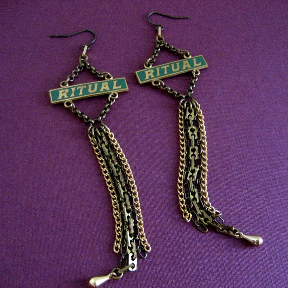 ritualistic earrings by t8designs on Etsy from etsy.com