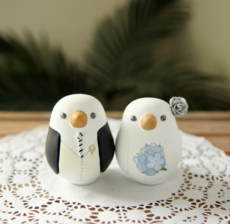 Love Birds Wedding Cake Topper - Medium