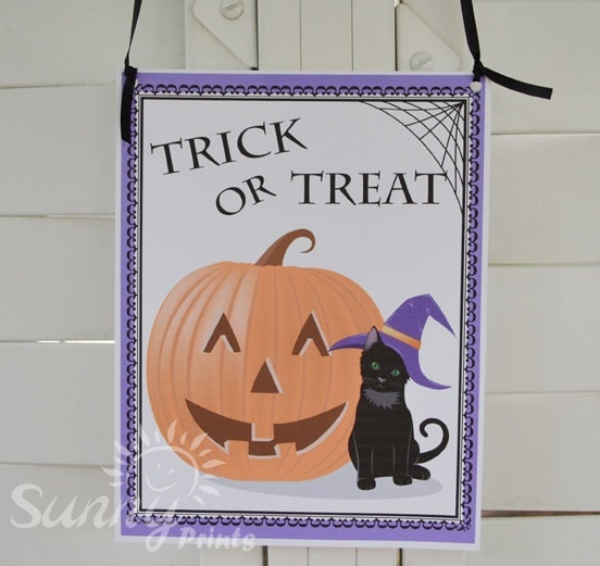 Items similar to Halloween party printable door sign on Etsy ~ 045651_Halloween Door Signs Printable