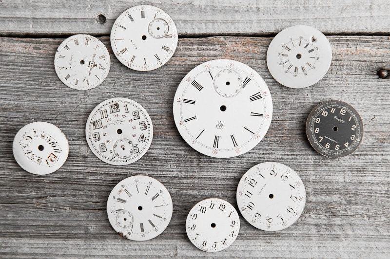 Vintage Porcelain Pocket Watch Faces