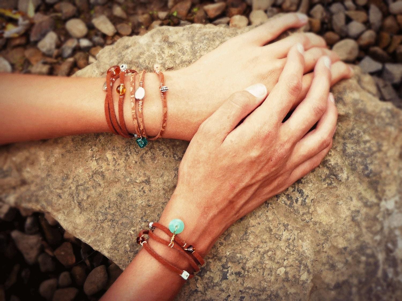 Triple-Wrap Rawhide Bracelets