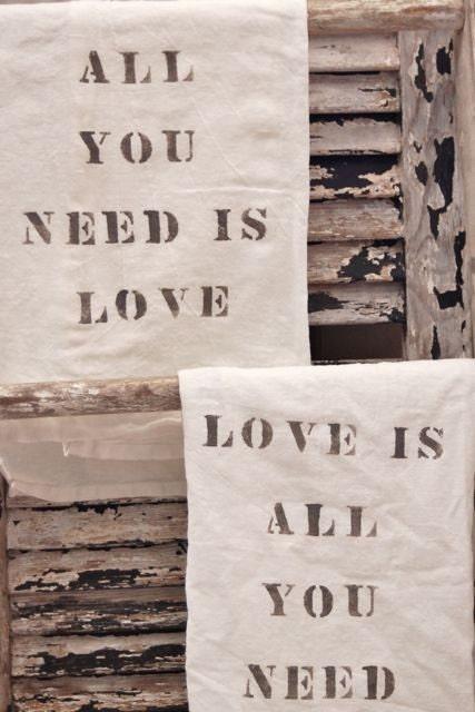 All You Need Is Love Flour Sack Towel Set