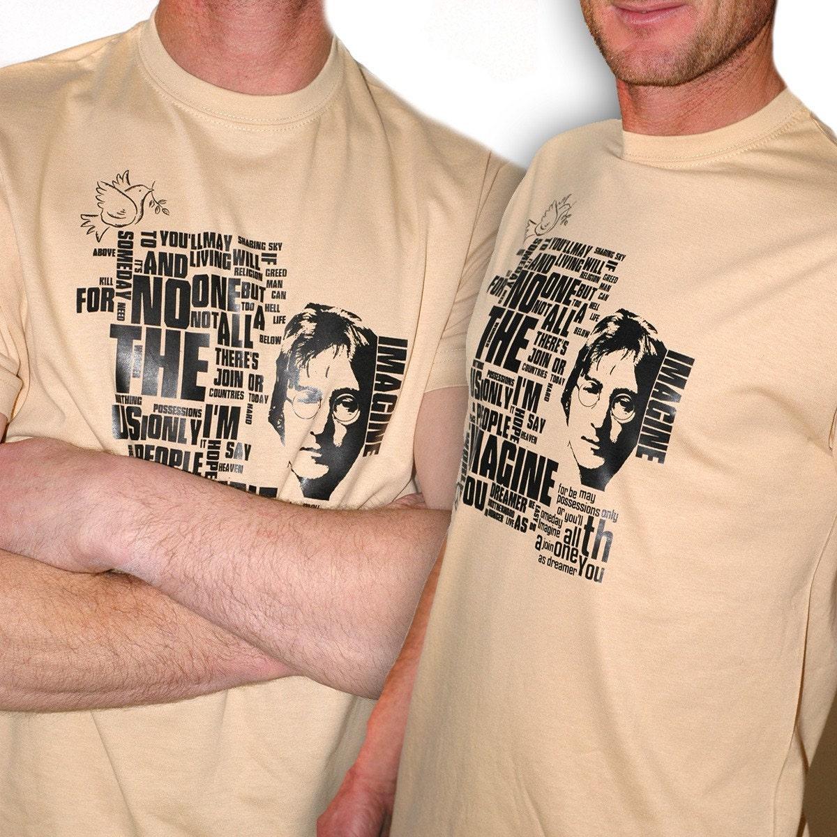 Original Artwork Silkscreen - tshirt - John Lennon imagine
