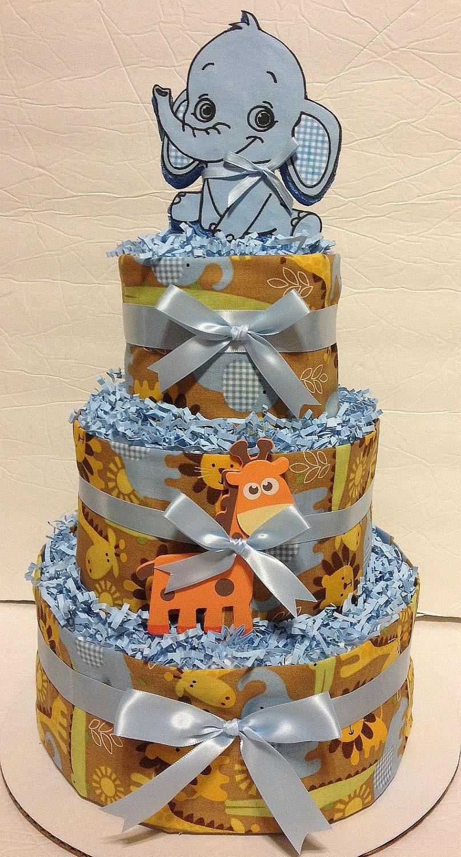 Sweet  Baby Jungle Diaper Cake