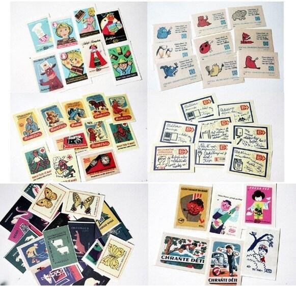 Czech matchbox label stickers ver4
