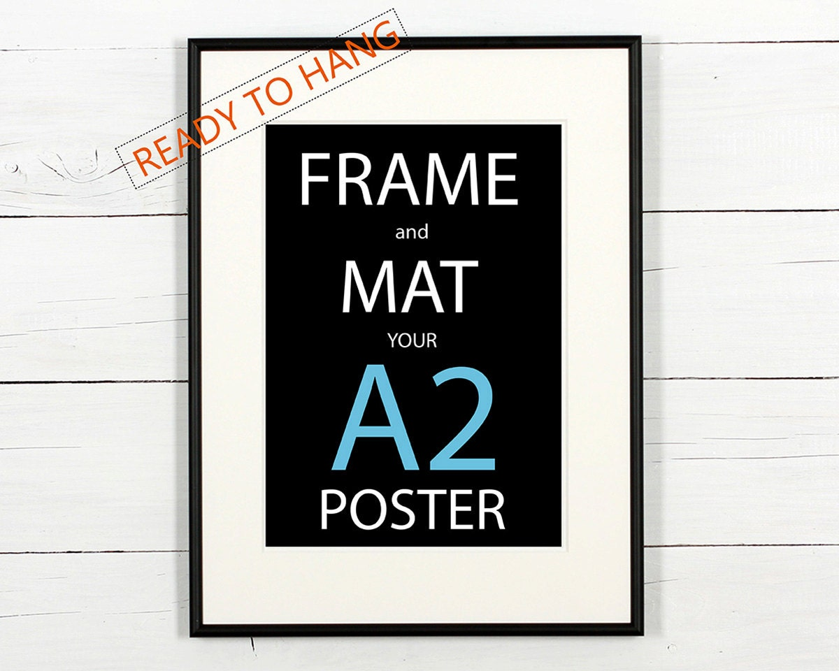 Framing a poster using mat