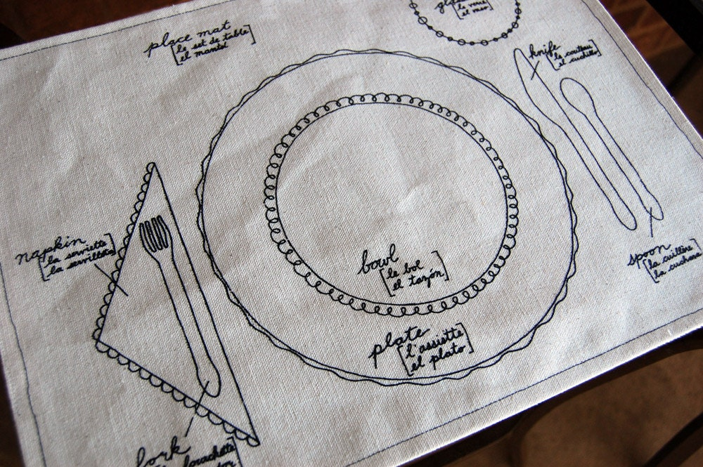 The audzipan anthology may 2011 trilingual place setting diagram on place mats ccuart Choice Image
