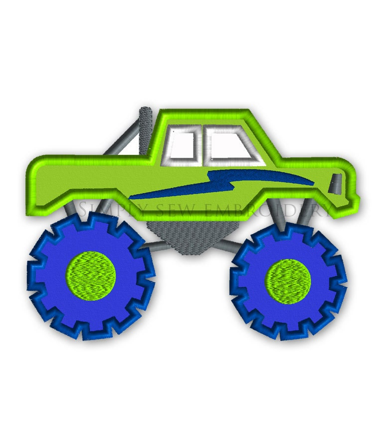 Free Monster Truck Embroidery Designs