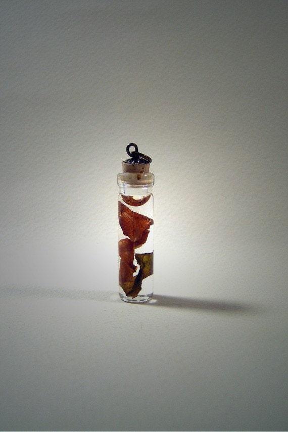 Miniature Rose Petals Pendant