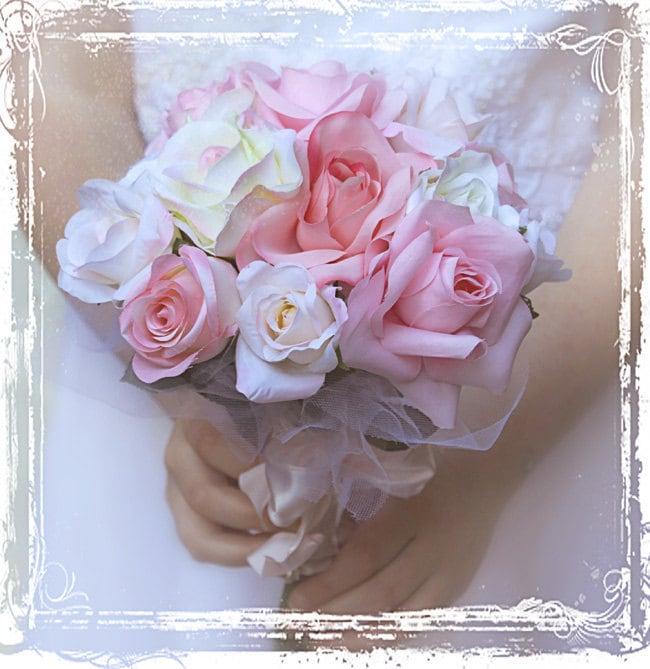 Потертый Chic роз Букет - бледно-розовый и букет Blush Люкс - Свадьба Свадьба - Summer Romance Пастель