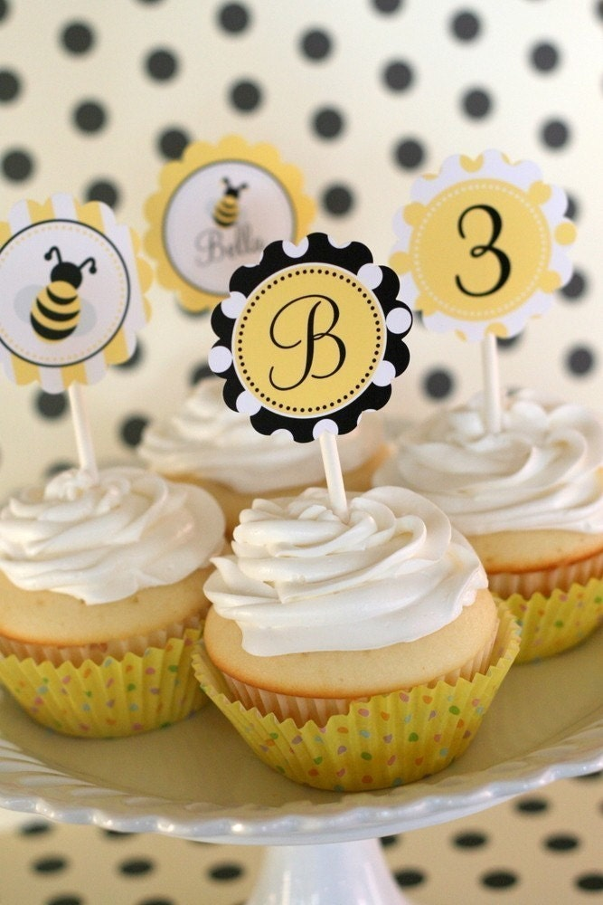 PRINTABLE PARTY CIRCLES - Bumble Bee Collection - The TomKat Studio