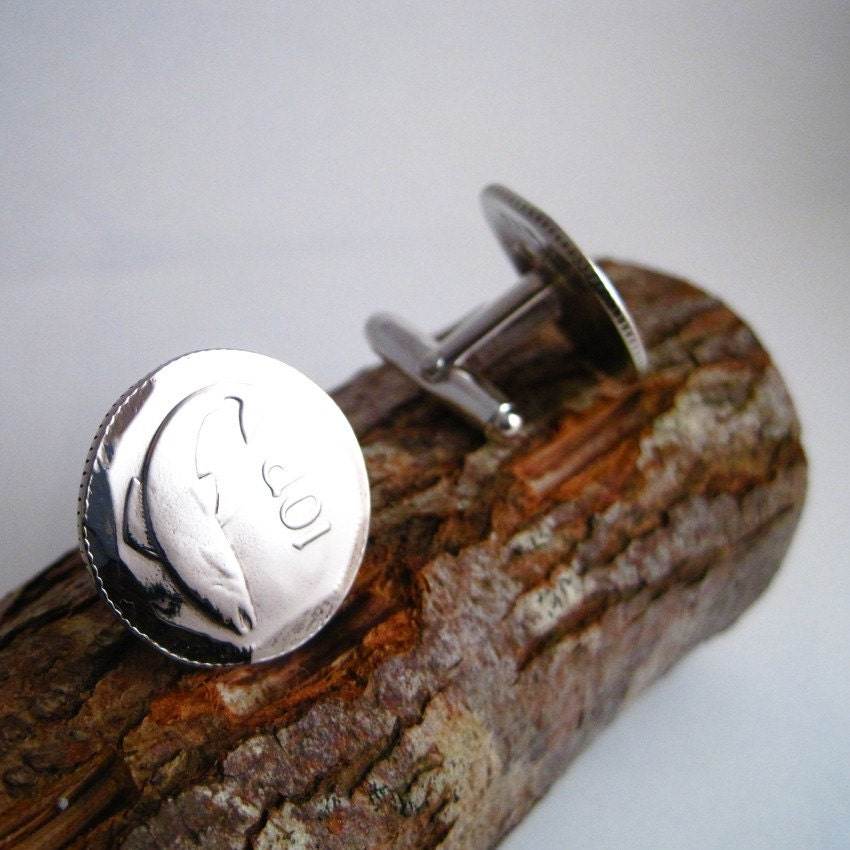 Irish 10 Pence Coin Cuff links
