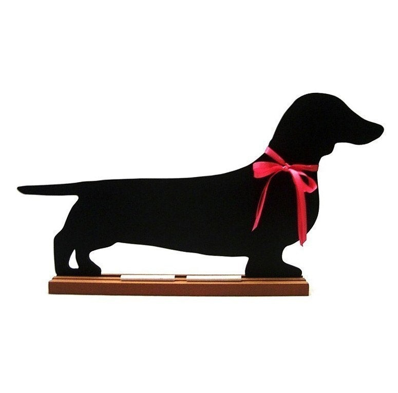 DACHSHUNDS - DOXIES - FUN, UNIQUE, SHAPED, DOG BREED CHALKBOARDS - Now Available in Black or Brown - Smooth, Long-haired, Wired - A favorite Pet Lover Gift