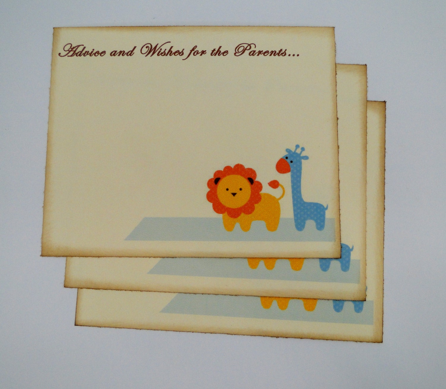 baby shower guest book alternative cards set by thetrendysparrow