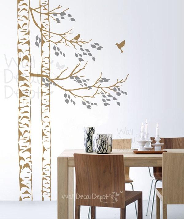 Wall Decals Wall Sticker Art Birch Tree Wall By Walldecaldepot