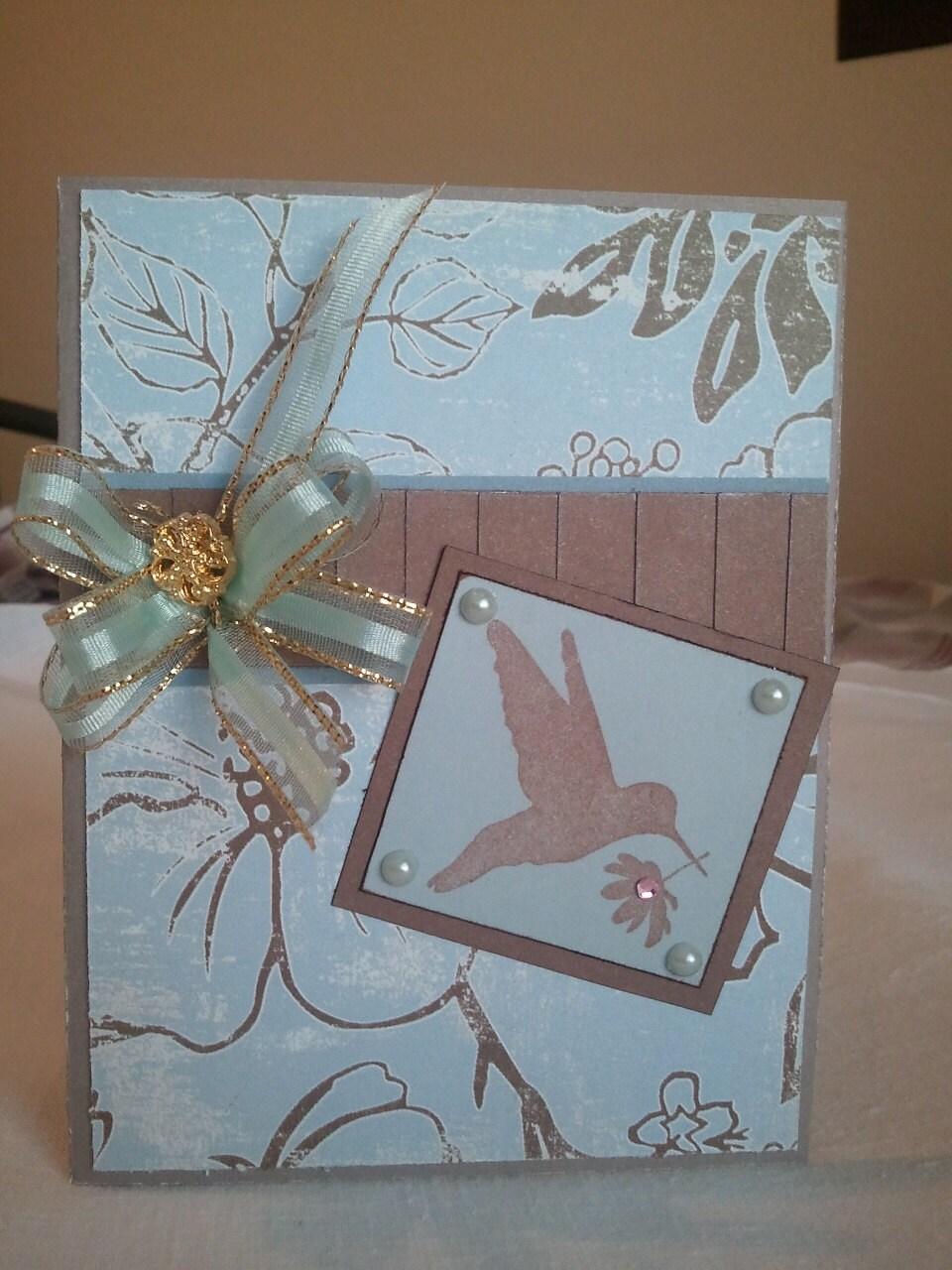 Hummingbird Greeting card - Alteredbooksnthings
