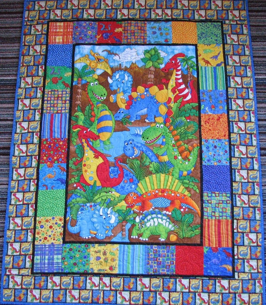 Closing Sale 50 Off Dinosaur Baby Quilt By Lmkquilts On Etsy