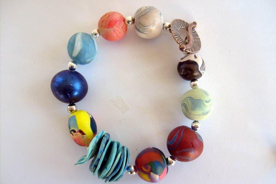 Patchwork Polymer Clay Bracelet