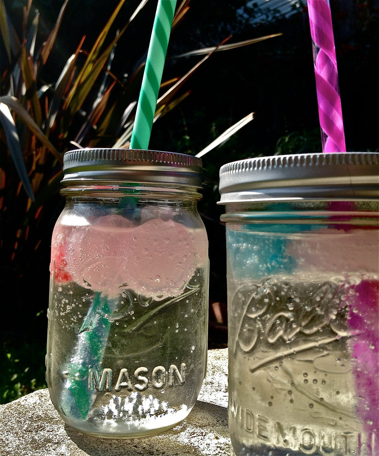 4 Mason Jar Tumbler Lids with Straws - Make your own eco Tumbler - Reusable Glass Tumbler - Mason Jar Lids - Mason Tumbler