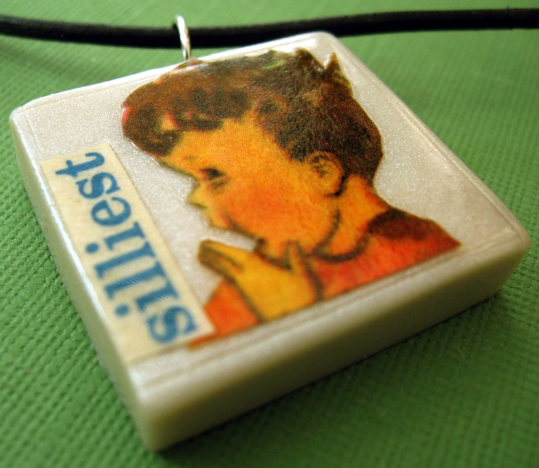 Silliest pendant (on leather cord)