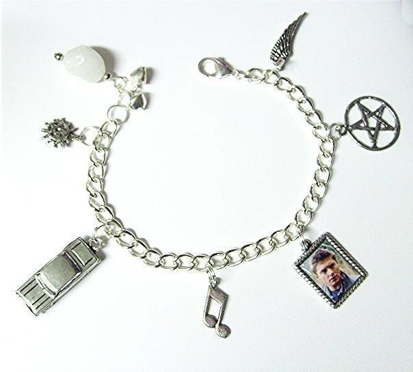 supernatural dean winchester charm bracelet by
