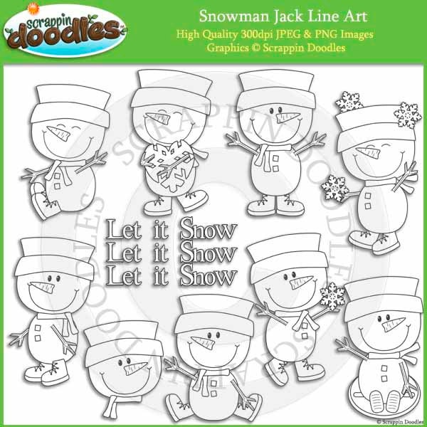 Line Art Etsy : Snowman jack line art by scrappindoodles on etsy