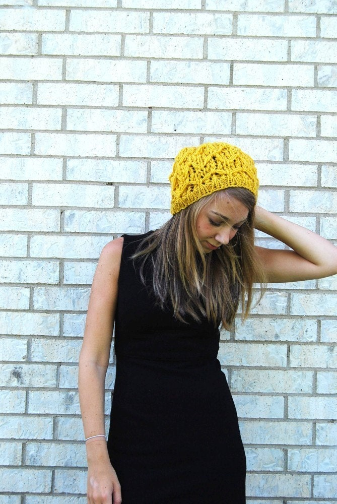 Waffle Cone - Summer Slouch in Mustard Yellow
