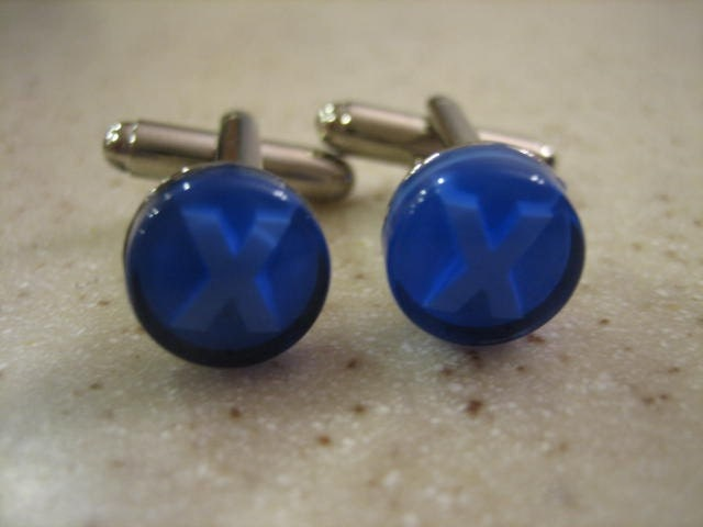 XBOX Controller Button Cufflinks - Blue X ButtonsXbox X Button