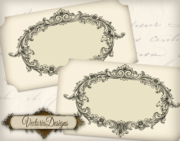 Blank Vintage Labels vintage printable images by VectoriaDesigns