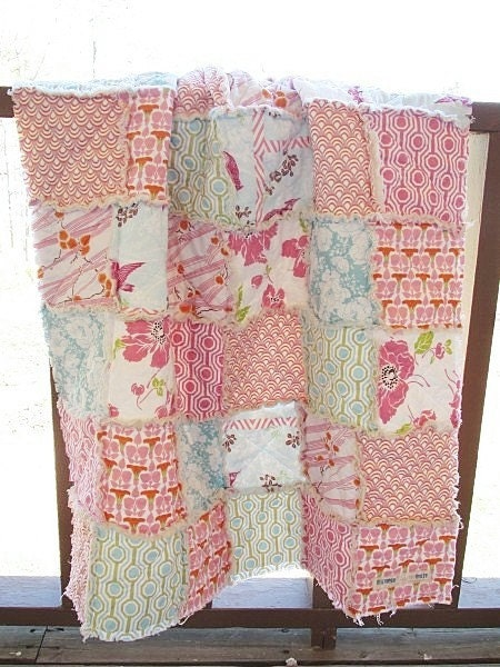 Crib Rag Quilt,  Dolce, LAST ONE