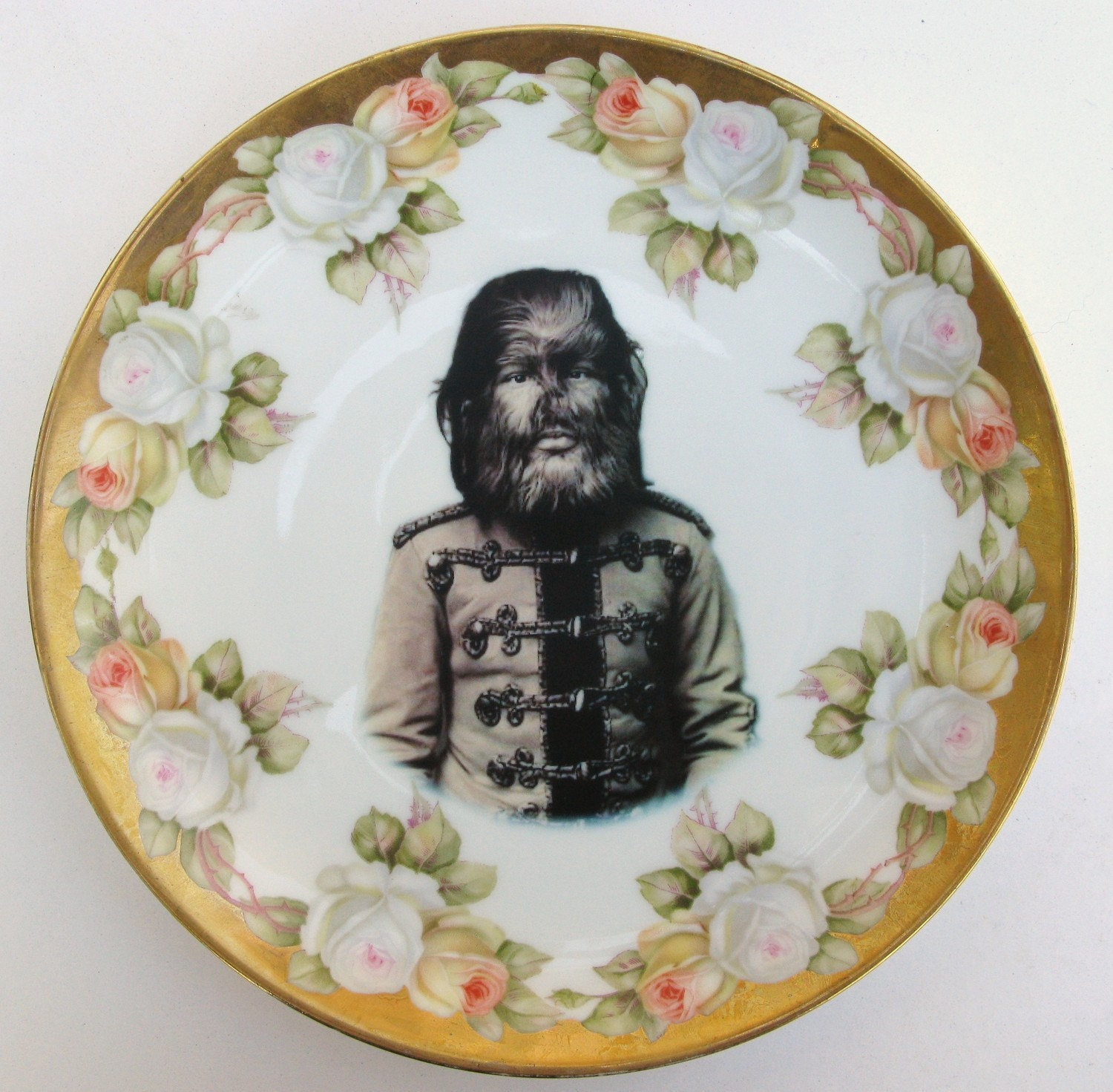 JoJo The Dog Faced Boy - Altered Antique Plate