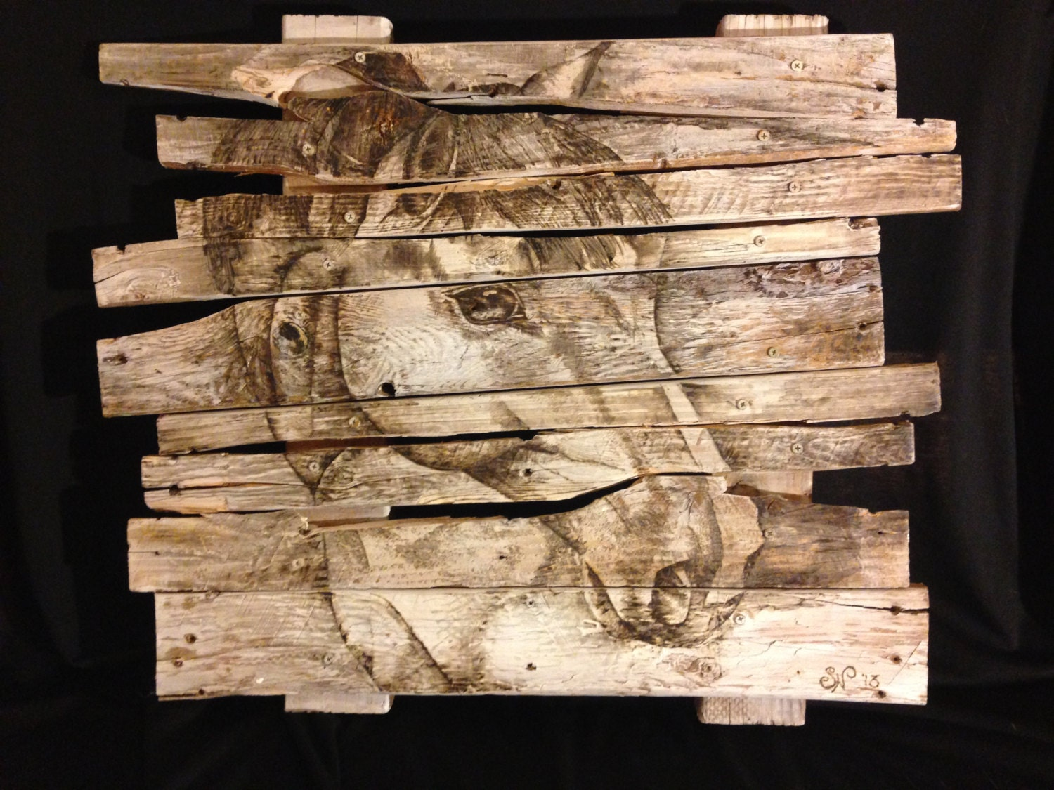 Year of the wooden horse the old painted cottage blog for Wood plank art ideas