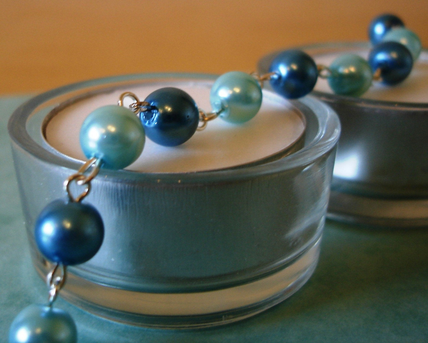 Something blue -  Pearl bracelet - perfect for weddings