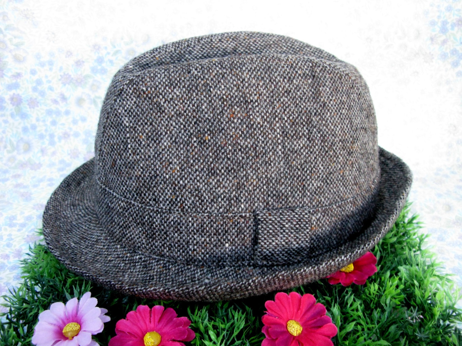 Donegal Trilby  Mens Trilby Hat  Trilby Hat  Vintage Trilby  Irish Trilby  Made In Ireland  Wool Trilby  Donegal Tweed